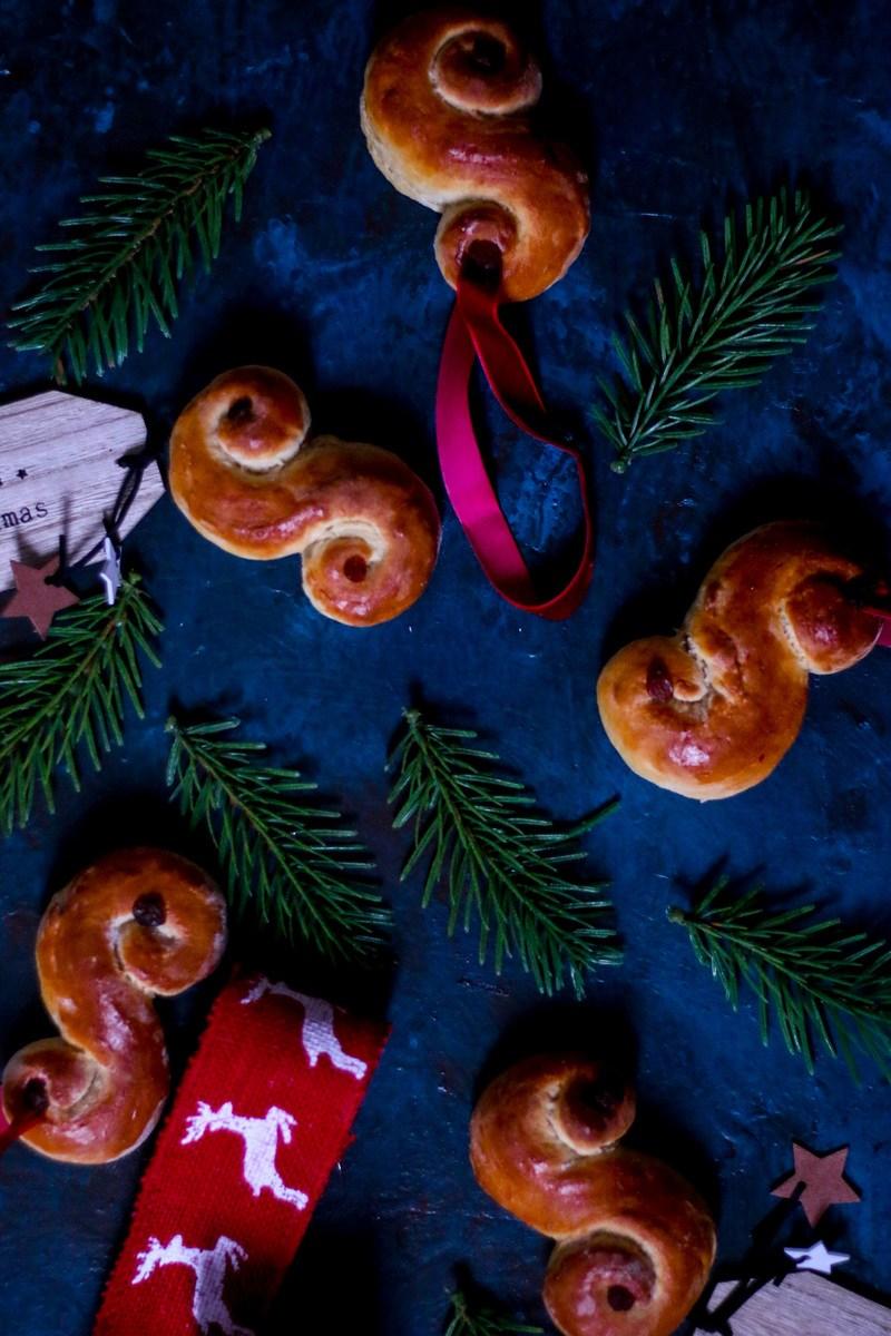 Rezept Schwedische Lussekatter oder Safran Brötchen