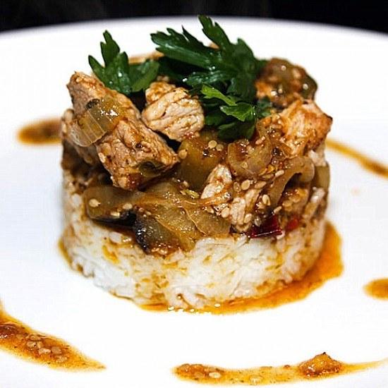 Rezept Schweinefleisch mit Tamarinden-Kapern-Sauce
