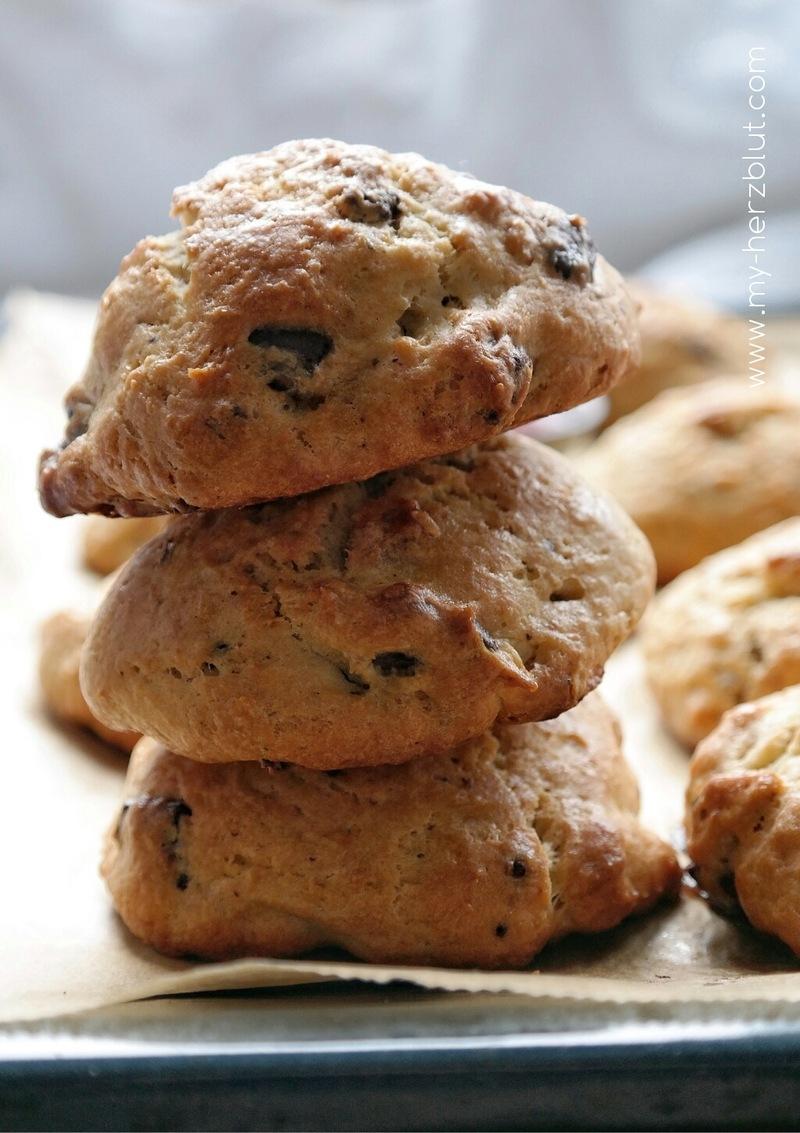 Rezept Scones mit Schokoladen- und Walnussstückchen
