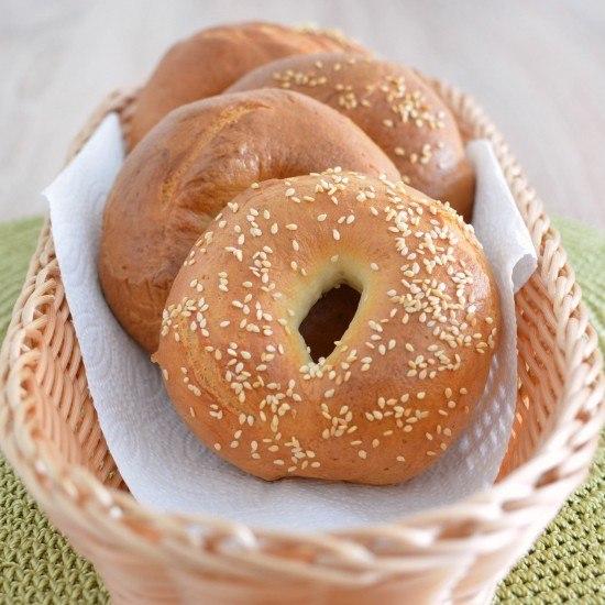 Rezept selbstgebackene Bagels