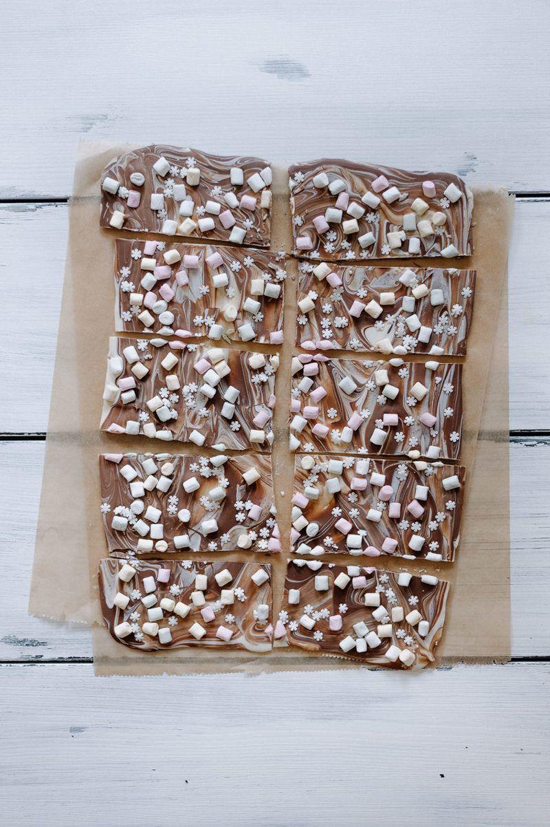 Rezept Selbstgemachte (Bruch-) Schokolade im Einhorn Look