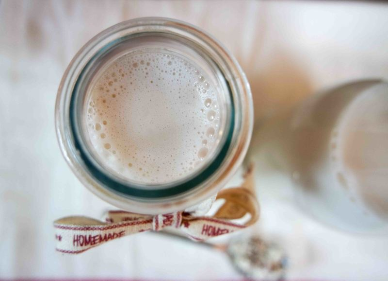 Rezept Selbstgemachte Mandelmilch