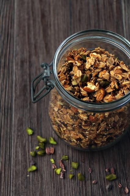 Rezept Selbstgemachtes Granola mit Amaranth