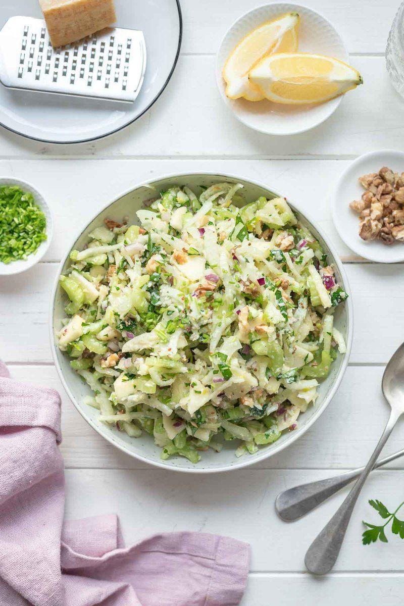 Rezept Sellerie Salat mit Apfel und Fenchel