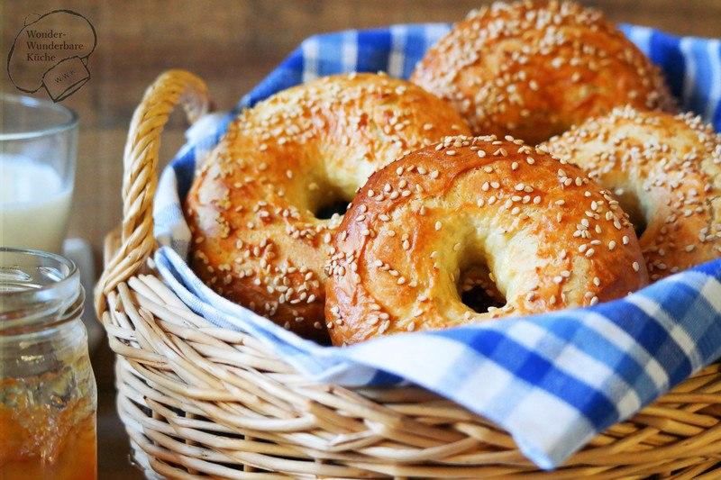 Rezept Sesam-Bagels