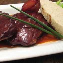 Rezept Sirloinsteak auf Portweinschaloten