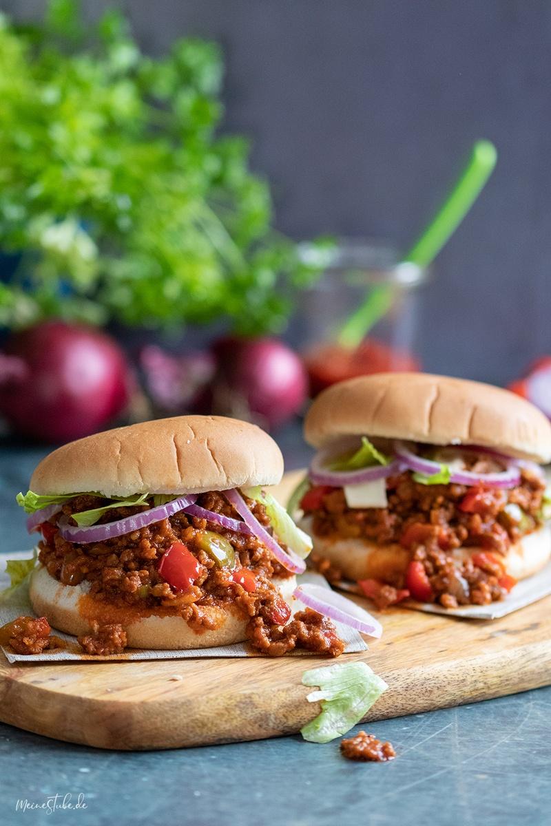 Rezept Sloppy Joe Burger - mit amerikanischer Hackfleischsauce