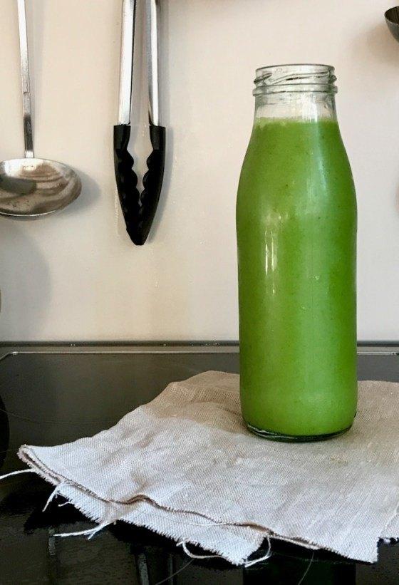 Rezept Smoothie in grün: Gurke, Spinat, Apfel