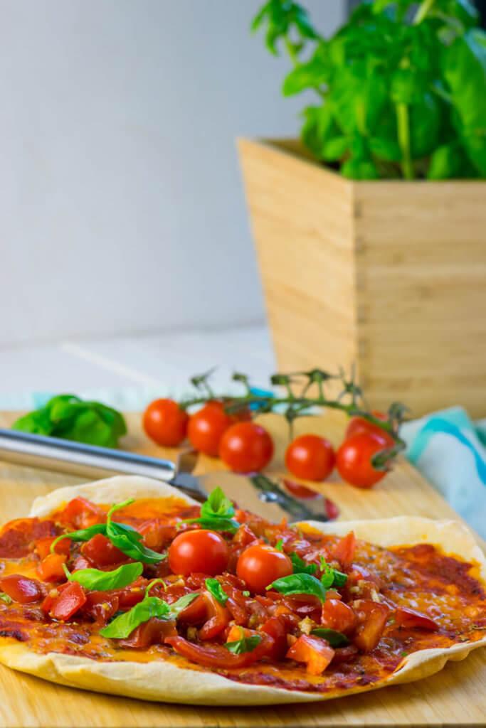 Rezept Sommerfeeling pur mit Pizza Bruschetta