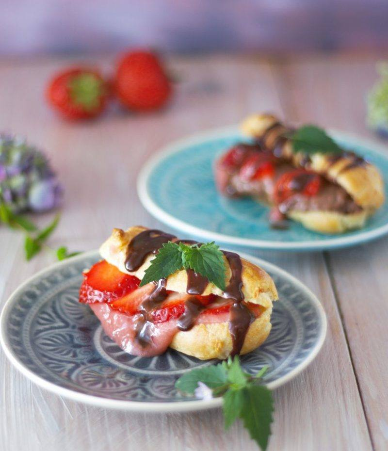 Rezept Sommerliche Erdbeer Eclairs