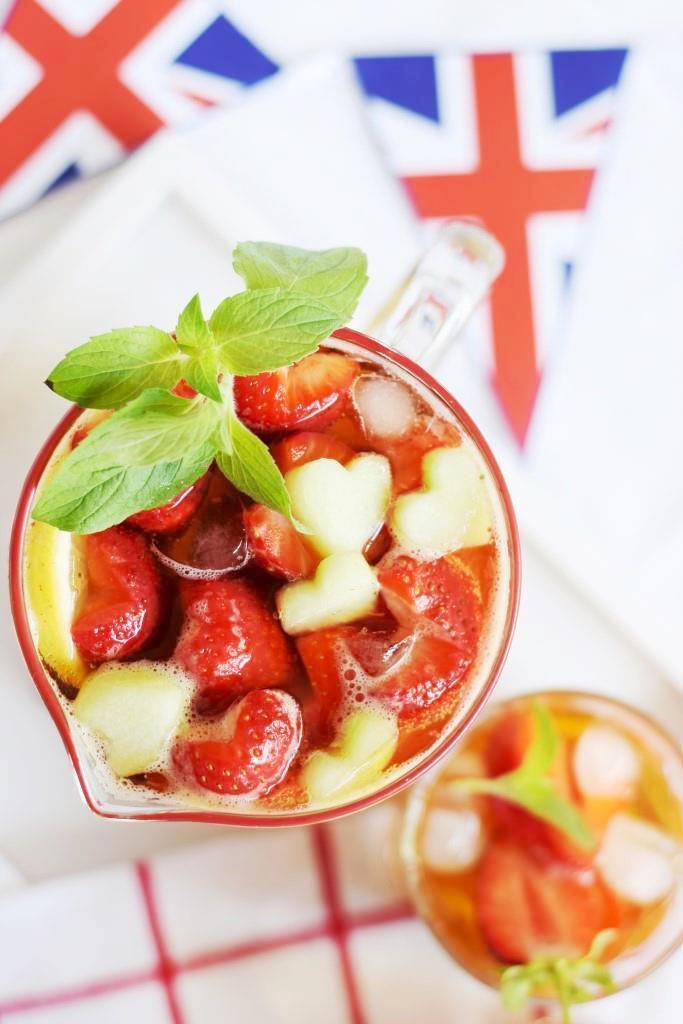 Rezept Sommerlicher Erdbeer-Pimm's - so britisch wie die Queen!