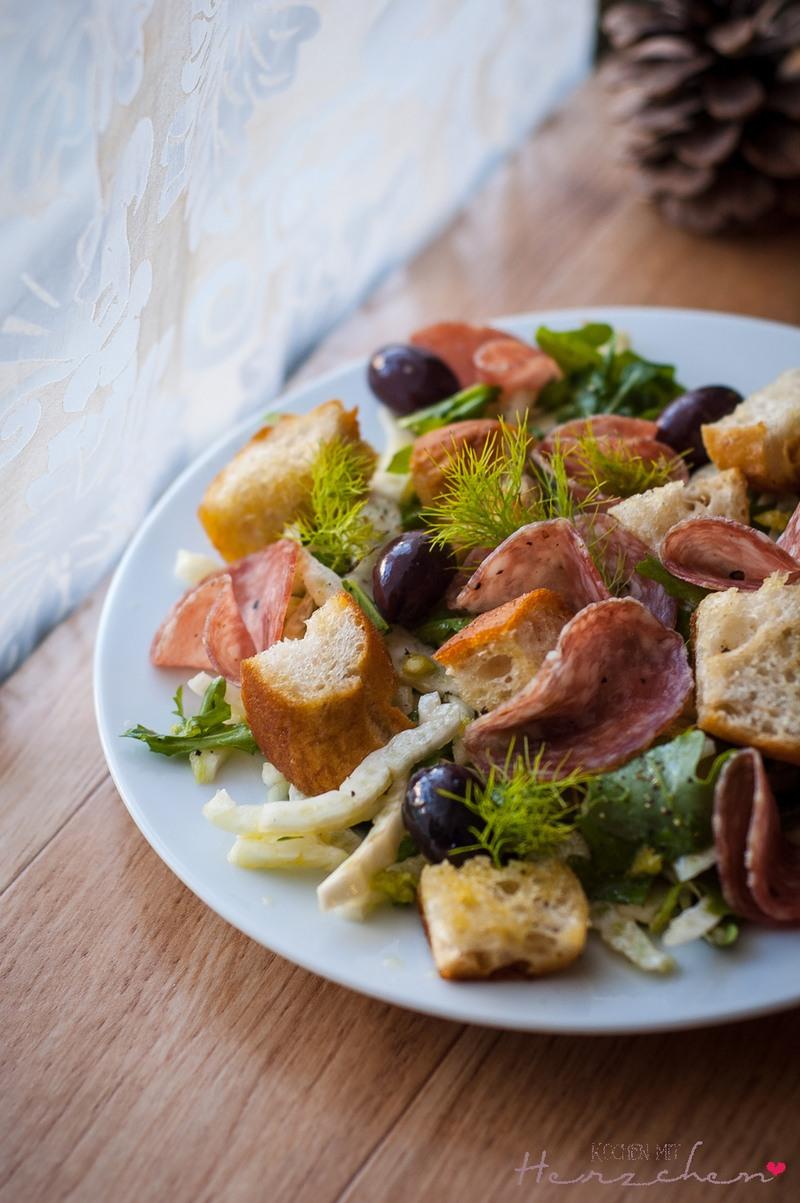 Rezept Sommerlicher Fenchel-Brotsalat