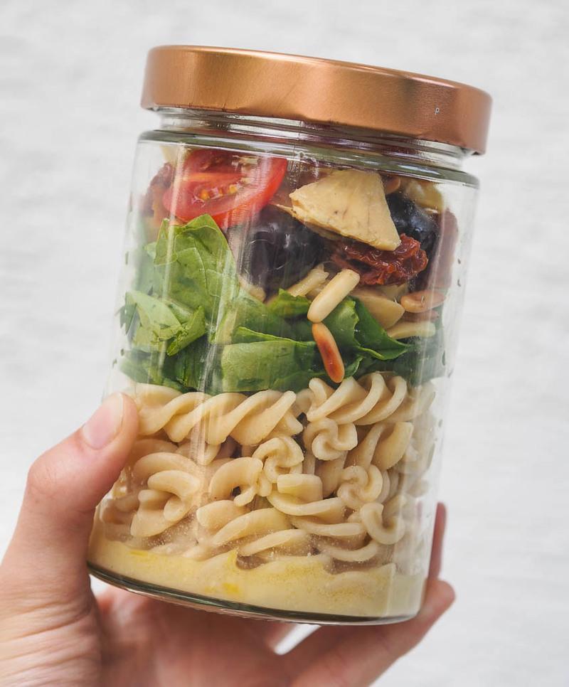 Rezept Sommerlicher Spinat-Nudelsalat
