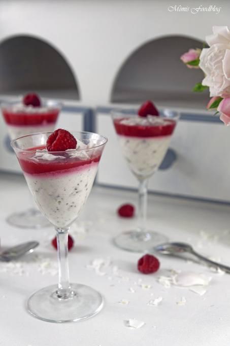 Rezept Sommerliches Kokos-Himbeer Dessert