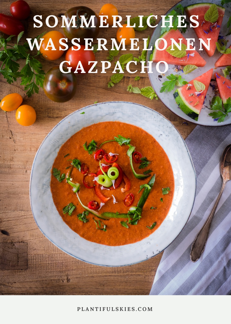 Rezept Sommerliches Superfood Rezept: Wassermelonen Gazpacho mit Chia Samen