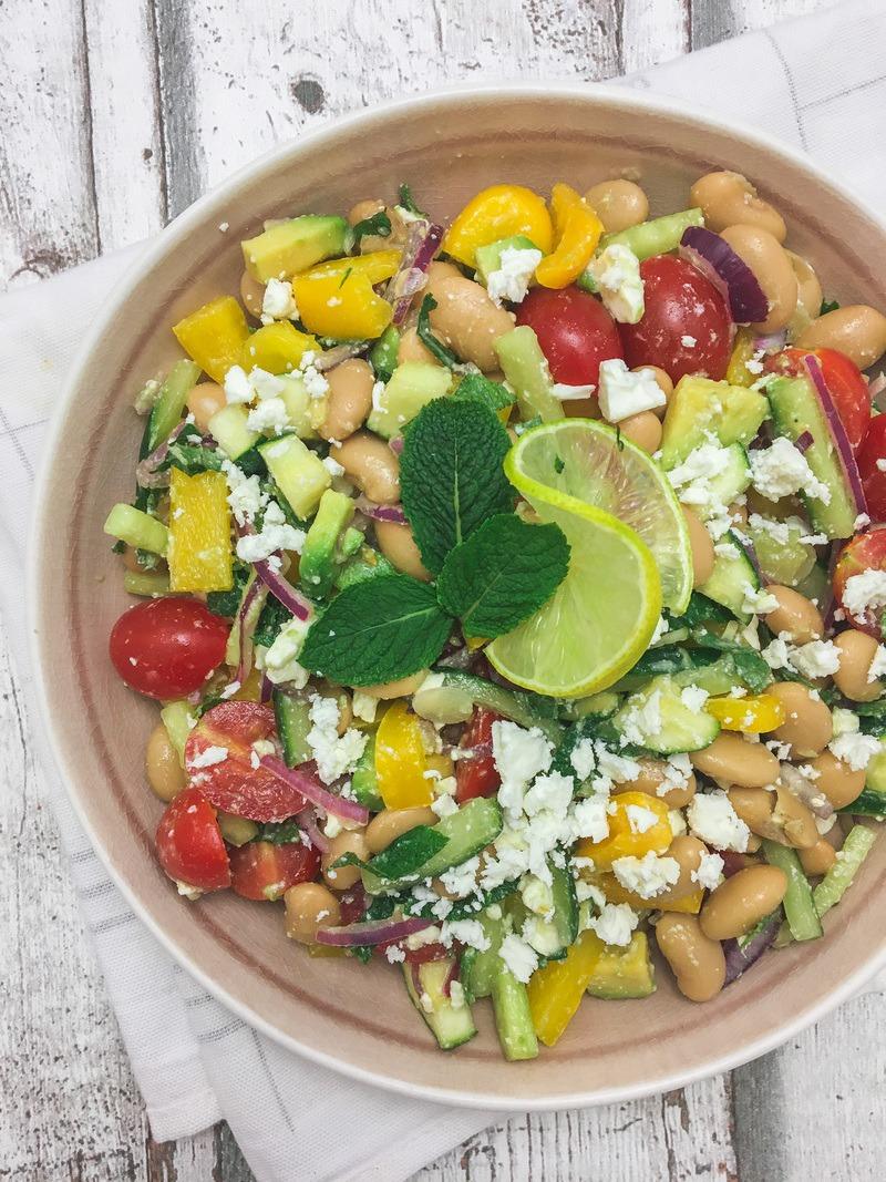Rezept Sommersalat mit weißen Bohnen