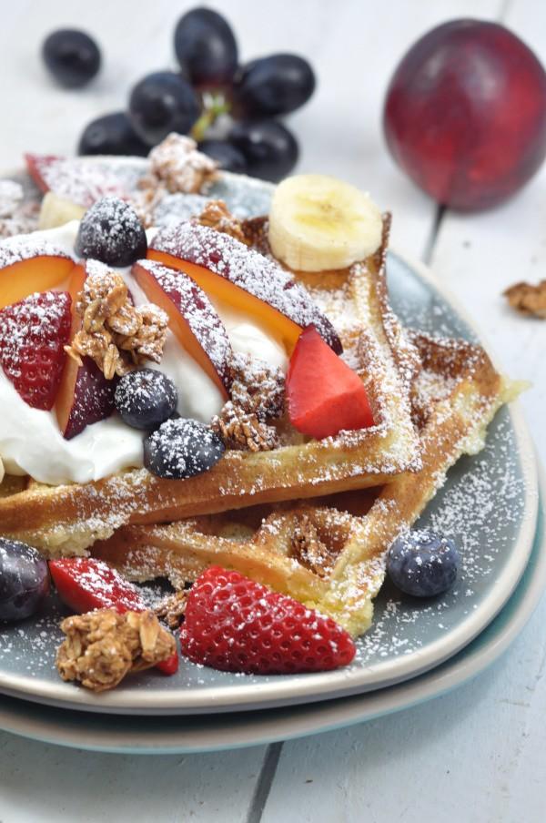 Rezept Sonntagswaffeln deluxe mit isländischem Frischkäse