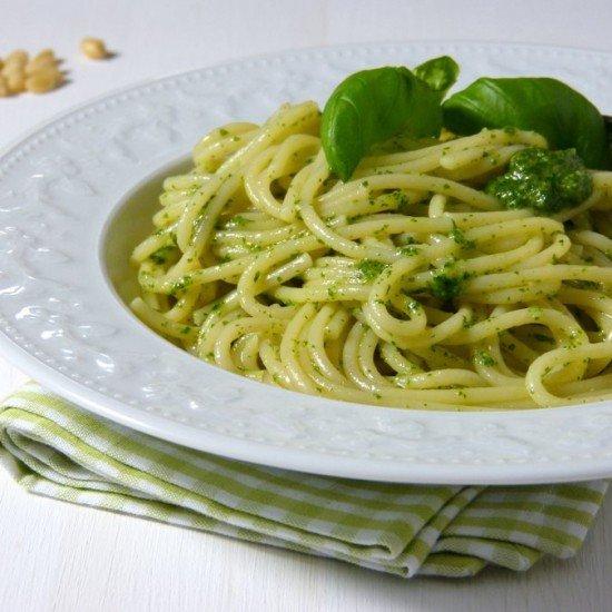 Rezept Spaghetti al pesto