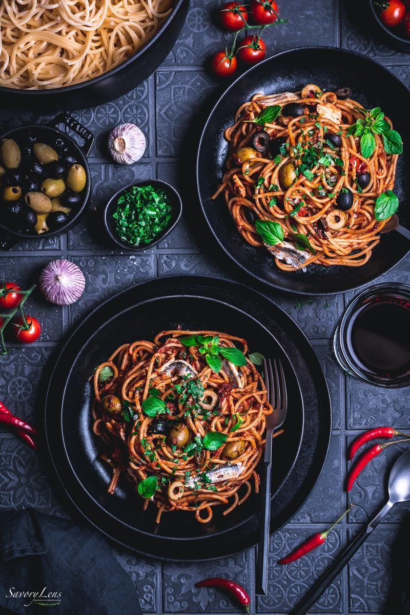 Rezept Spaghetti alla puttanesca mit Boquerones