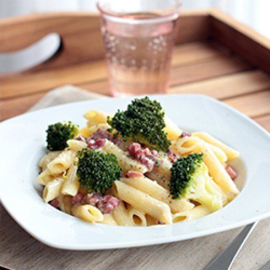 Rezept Spaghetti Carbonara mit Brokkoli