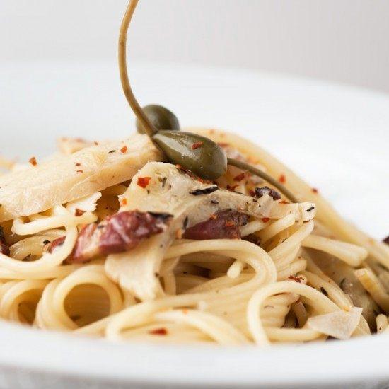 Rezept Spaghetti mit Artischocken und Knoblauch