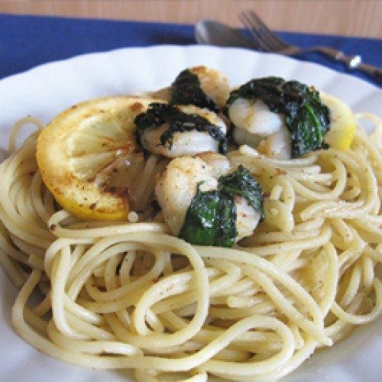 Rezept Spaghetti mit Bärlauchgarnelen