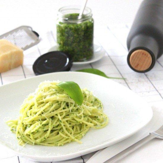 Rezept Spaghetti mit Bärlauchpesto