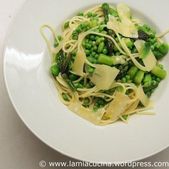 Rezept Spaghetti mit frischem Grün
