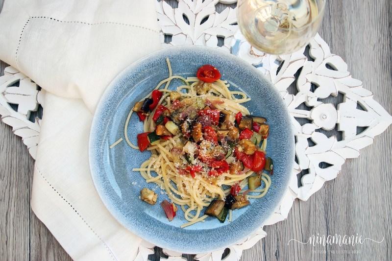 Rezept Spaghetti mit Ofengemüse