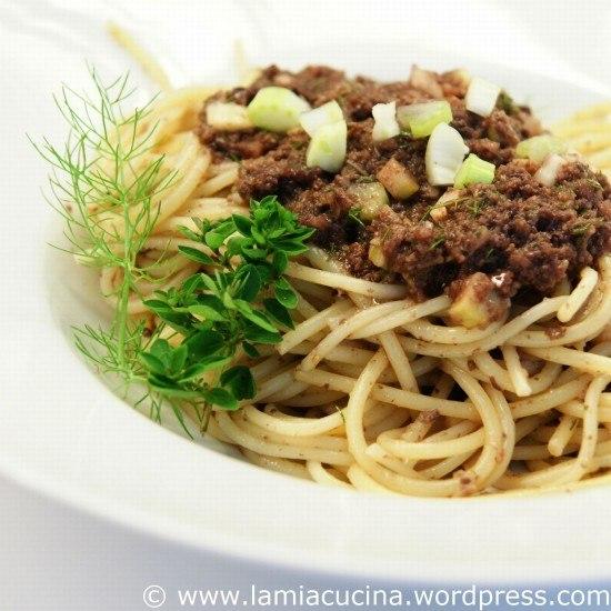 Rezept Spaghetti mit Olivensauce