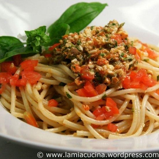 Rezept Spaghetti mit Pesto alla trapanese