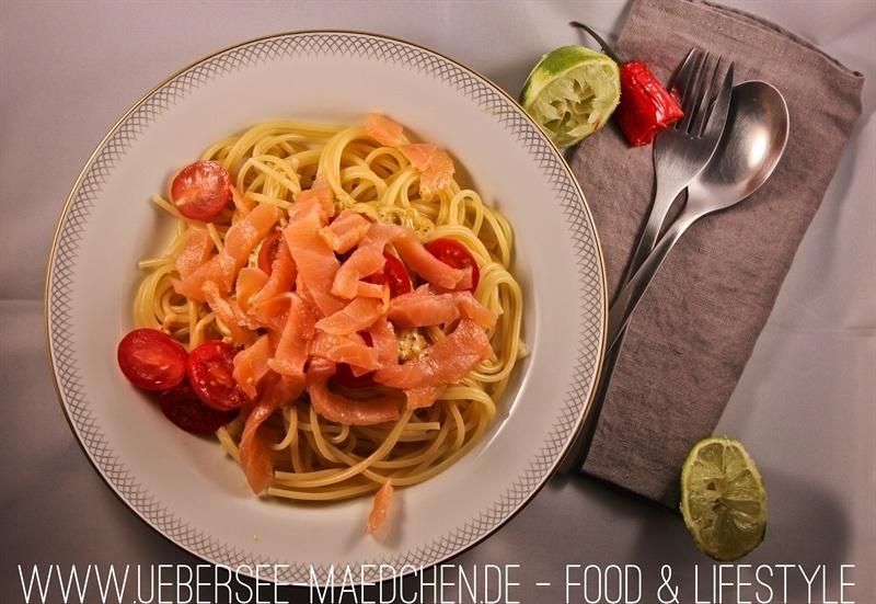 Rezept Spaghetti mit pikanter Lachs-Sahne-Sauce