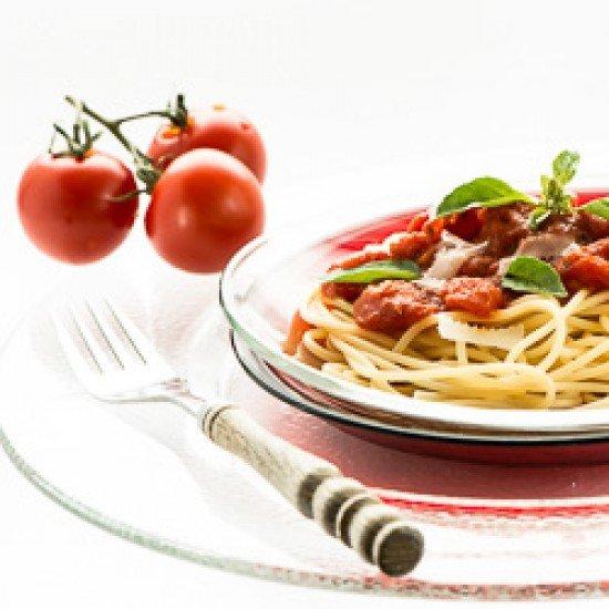 Rezept Spaghetti mit Tomatensauce