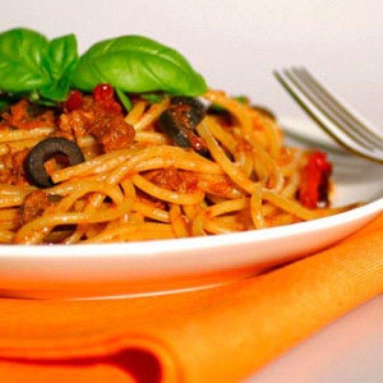 Rezept Spaghetti mit Tunfischsoße