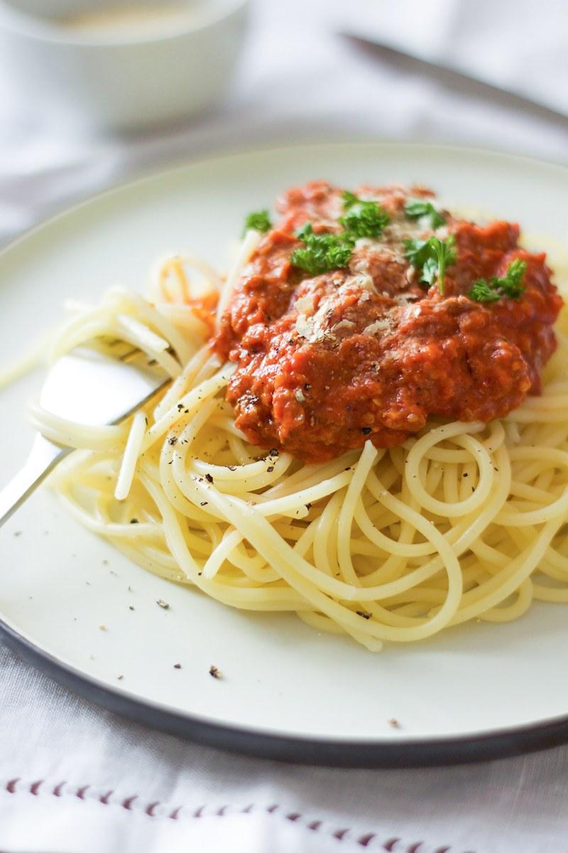 Rezept Spaghetti mit veganer Tex-Mex-Bolognese