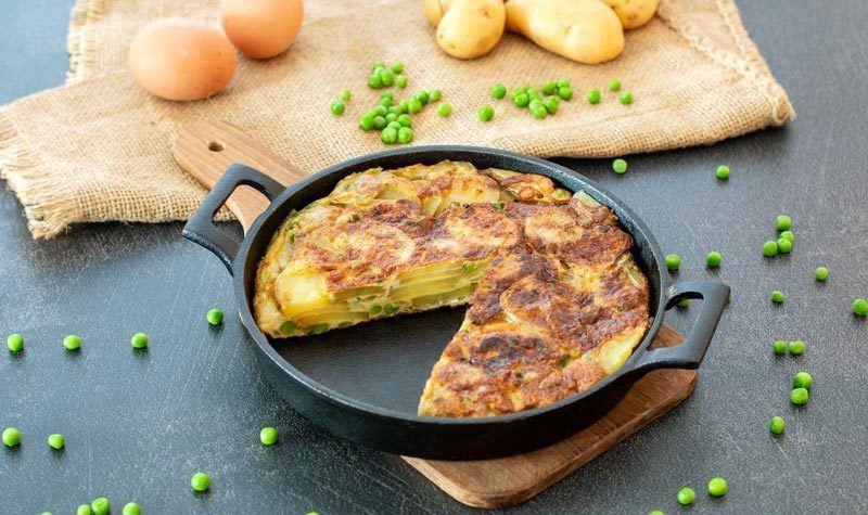 Rezept Spanische Tortilla mit Erbsen