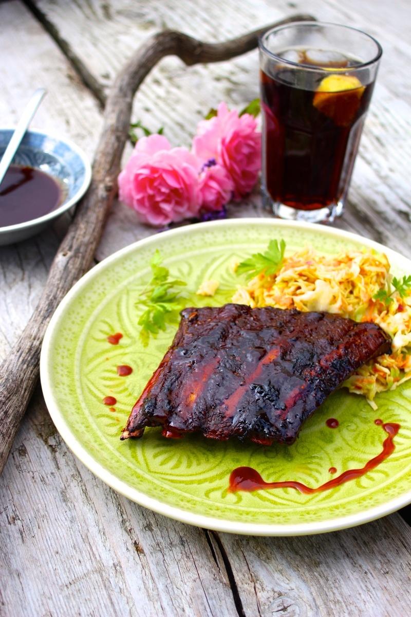 Rezept Spare-Ribs (aus dem Ofen!) mit Coleslaw