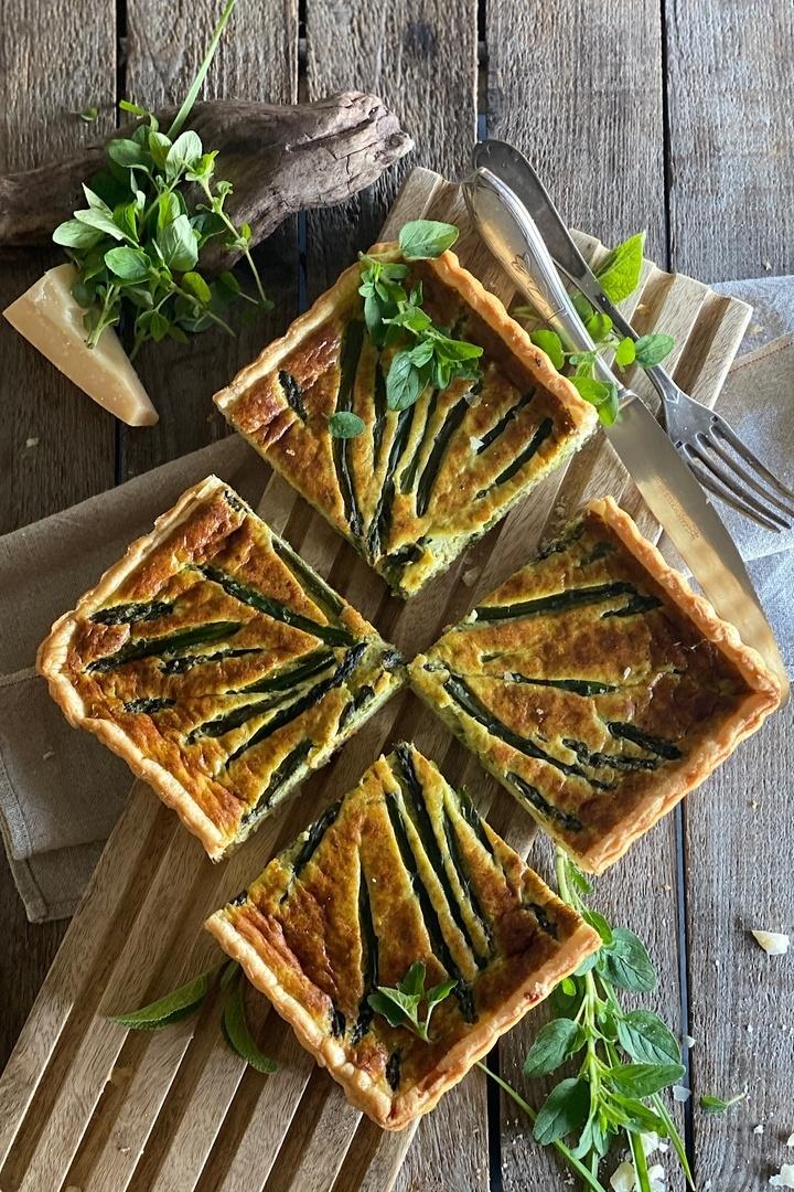 Rezept Spargel-Blätterteig Tarte