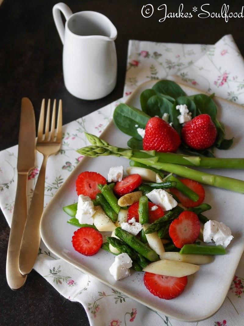 Rezept Spargel-Erdbeer-Salat