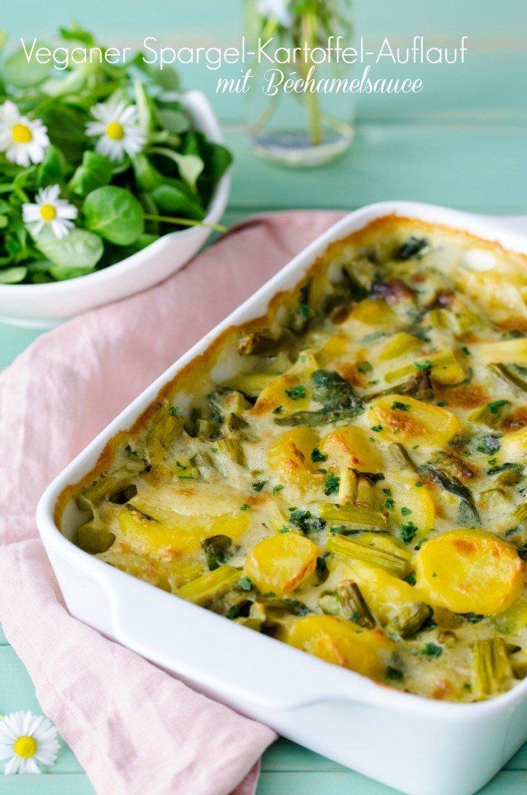Rezept Spargel-Kartoffel-Auflauf mit veganer Béchamelsauce