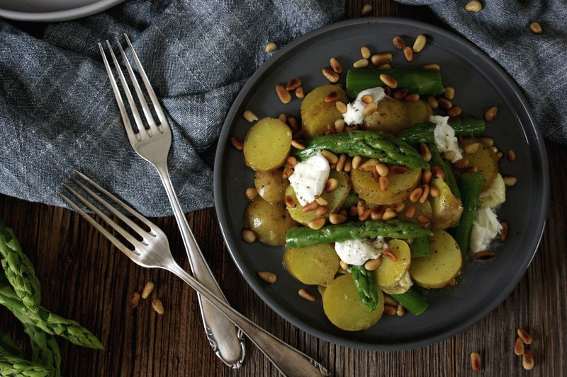 Rezept Spargel-Kartoffel-Salat mit Honig-Senf-Dressing