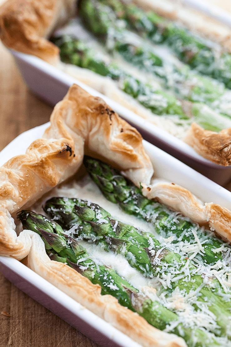 Rezept Spargel-Tartelettes mit Blätterteig