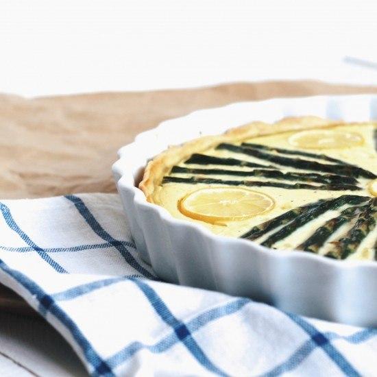 Rezept Spargel-Zitronen Quiche
