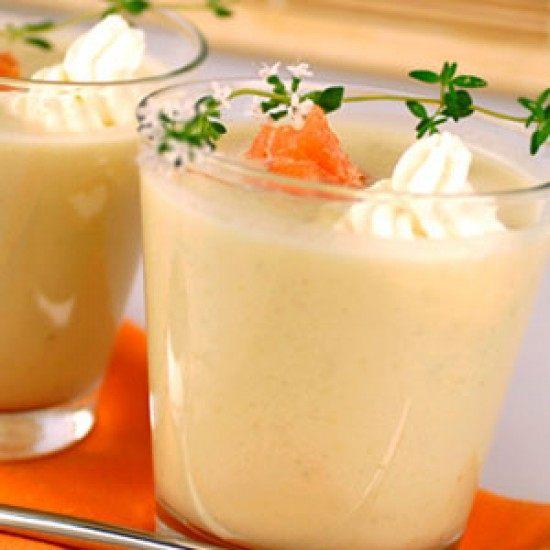 Rezept Spargelcrèmesuppe mit Lachsstreifen