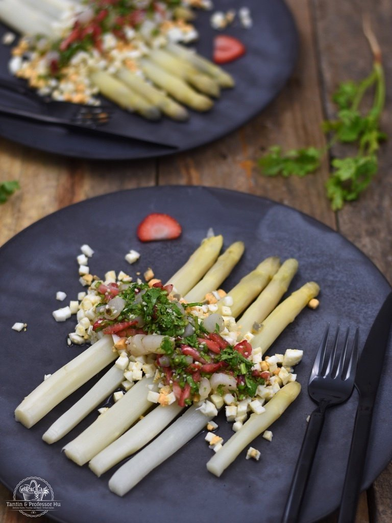 Rezept Spargelsalat mit Ei-Vinaigrette auf asiatische Art