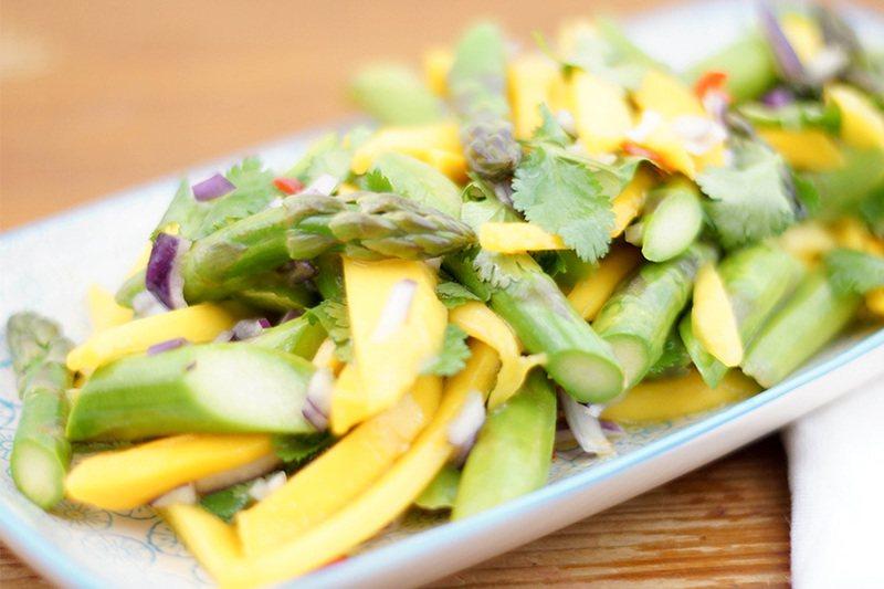Rezept Spargelsalat mit Mango