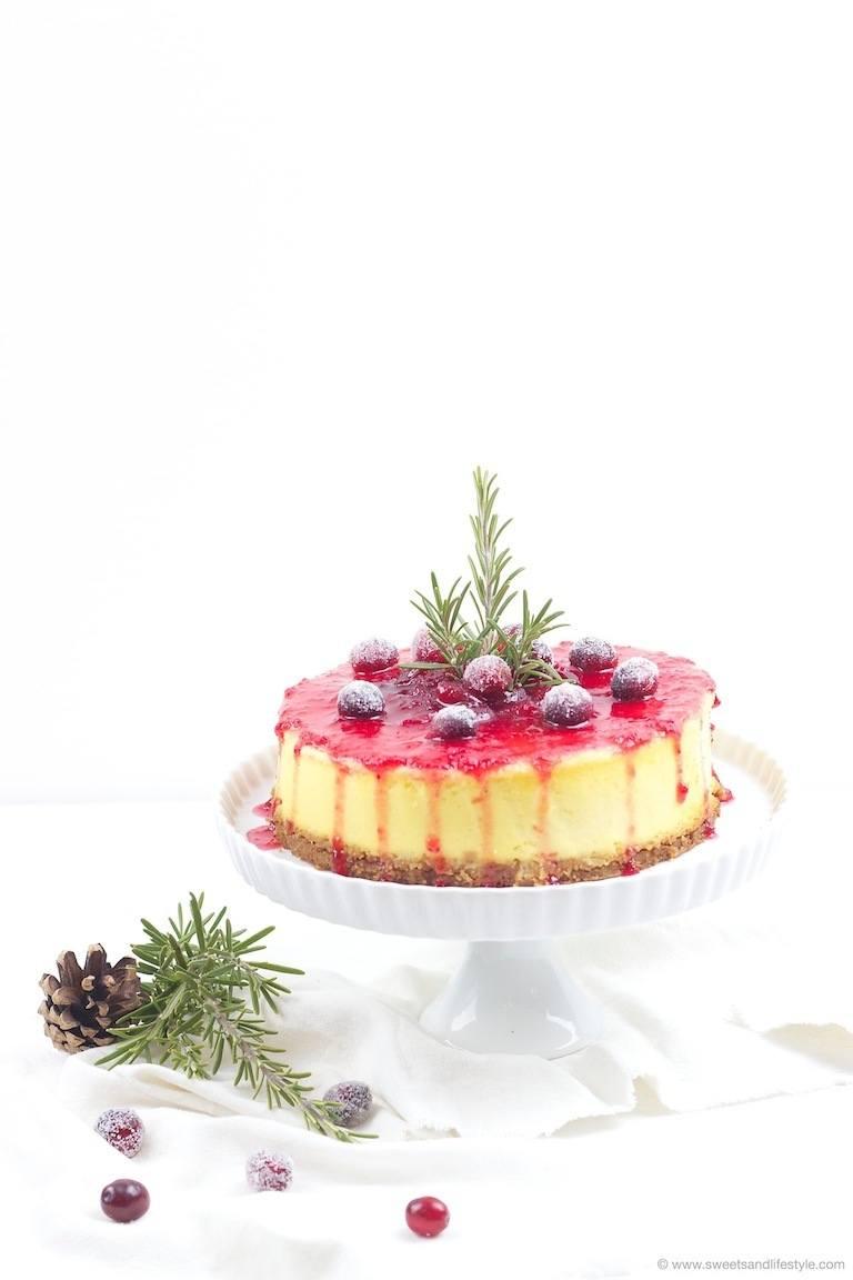 Rezept Spekulatius Cheesecake mit Cranberry Sauce