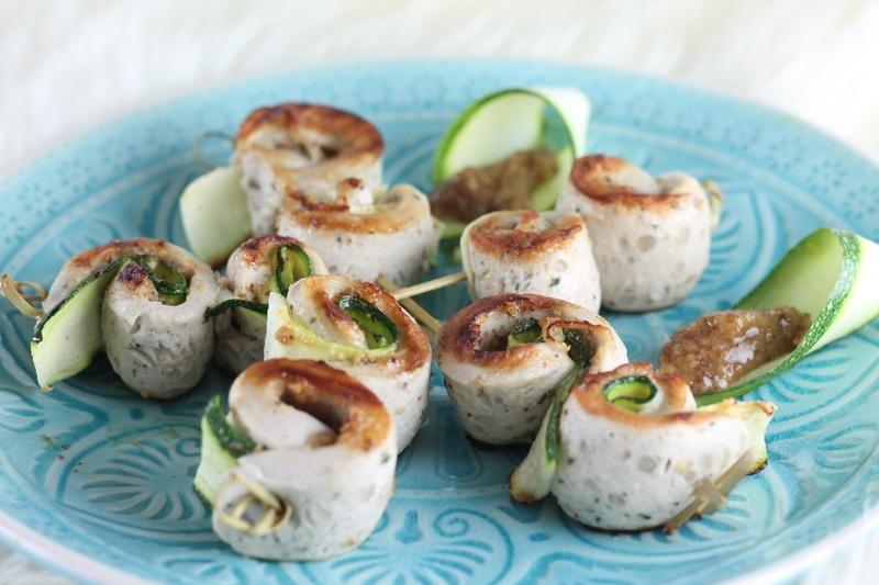 Rezept Spieße mit Weißwurst und Zucchini