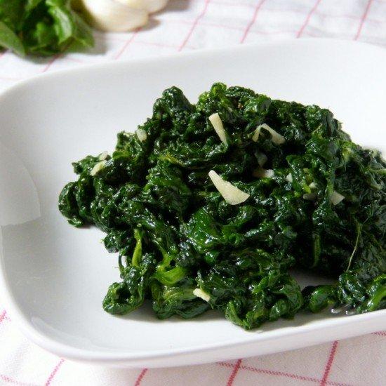 Rezept Spinaci all`aglio e olio