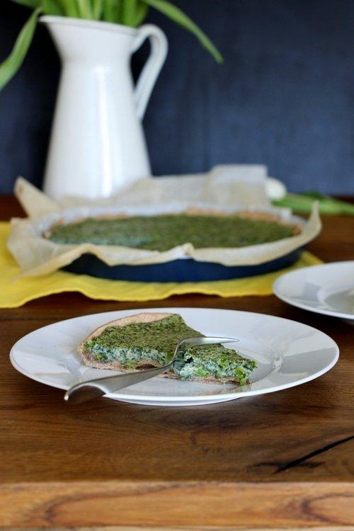 Rezept Spinat - Bärlauch - Quiche